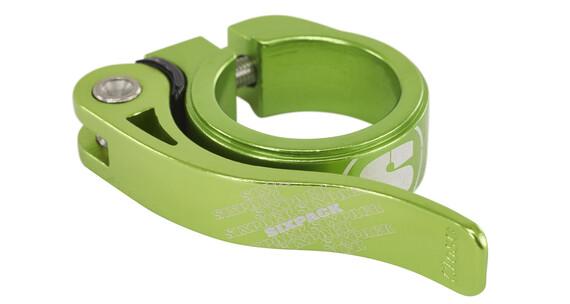 Sixpack Menace Sattelklemme Ø 31.8 mm electric-green